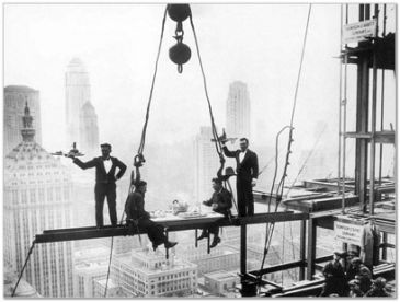 Reprodukce - Města - LUNCH ABOVE MANHATTAN, Getty Images